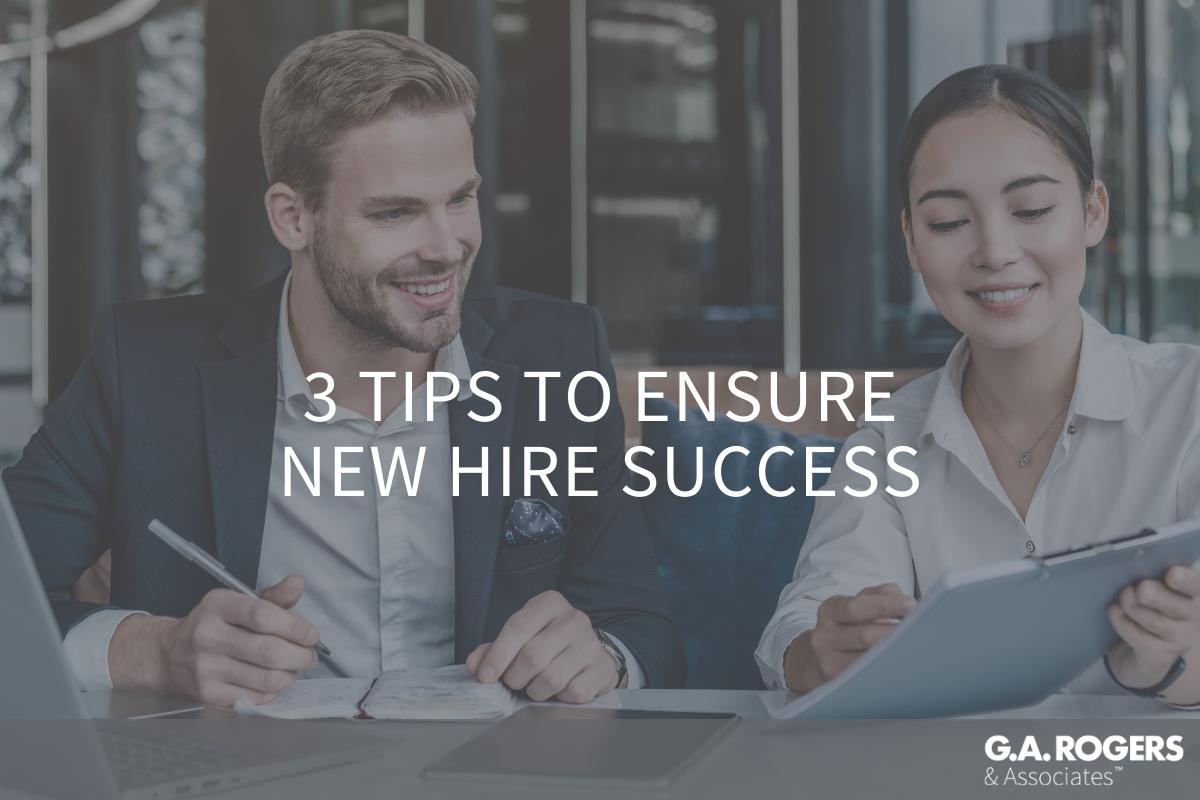 new hire success