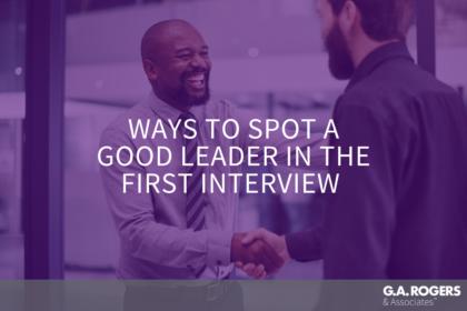 spotting a good leader
